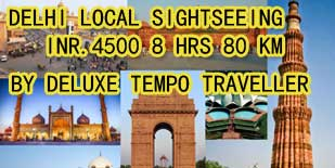 delhi local sightseeing tour luxury tempo traveller