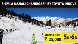 delhi shimla manali chandigarh tour by toyota innova car